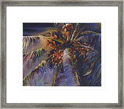 Evening Palm Framed Print by Mike Hill