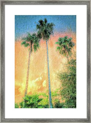 Evening Palms Framed Print