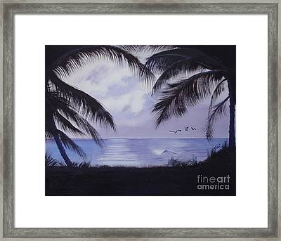 Evening Palms Framed Print by Tobi Czumak