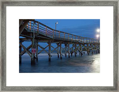 Evening Pier Framed Print