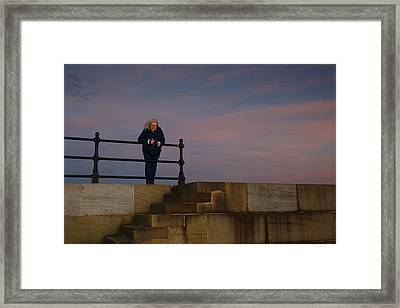 Framed Print featuring the photograph Evening Portrait by Paul Indigo