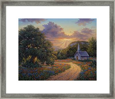 Evening Praise Framed Print by Kyle Wood