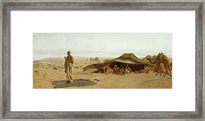 Evening Prayer In The West Framed Print by Frederick Goodall
