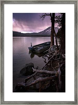 Evening Rain At Lake Mary Framed Print by Cat Connor