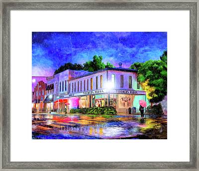 Evening Rain In Auburn Framed Print