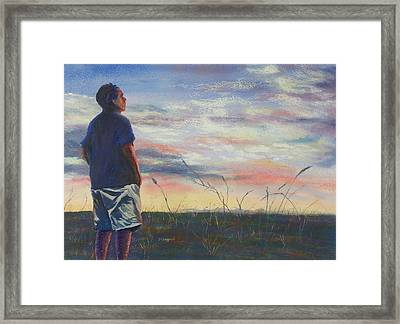Evening Reflection Framed Print by Becky Chappell