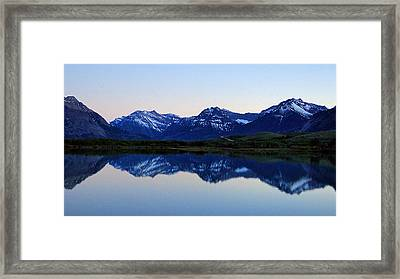 Framed Print featuring the photograph Evening Reflection by Blair Wainman