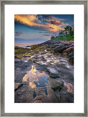 Evening Reflection, Bristol, Maine Framed Print