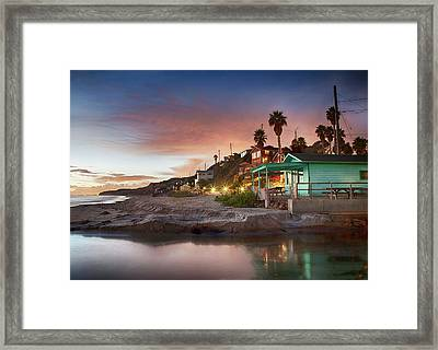 Evening Reflections, Crystal Cove Framed Print