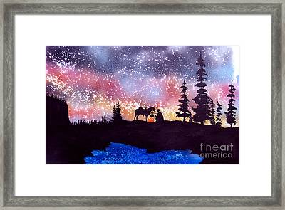 Evening Reflections Framed Print by Ed Moore