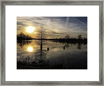 Evening Reflections  Framed Print