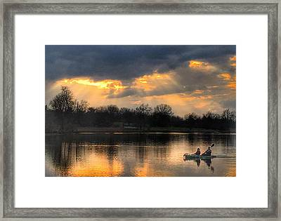 Evening Relaxation Framed Print by Sumoflam Photography