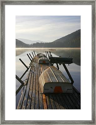 Evening Rentals Framed Print