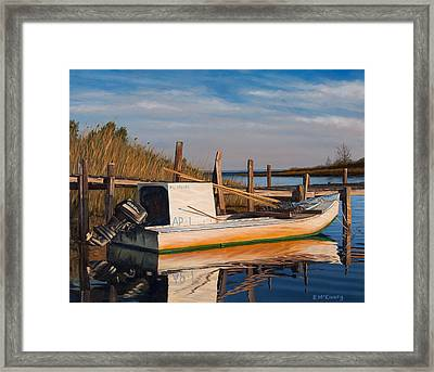 Framed Print featuring the painting Evening Rest by Rick McKinney