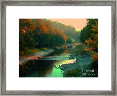 Evening River Framed Print by Miroslav Nemecek
