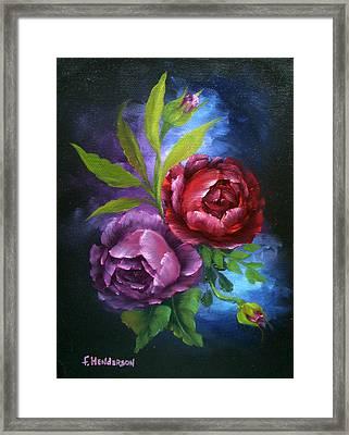 Evening Roses Framed Print