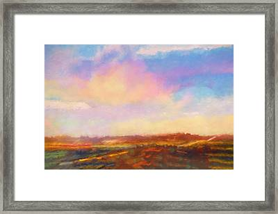 Evening Route California Framed Print
