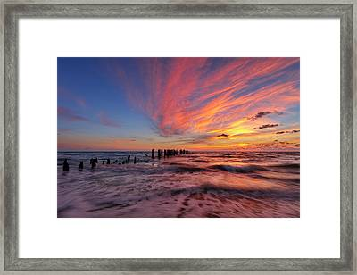 Framed Print featuring the photograph Evening Rush by Mike Lang