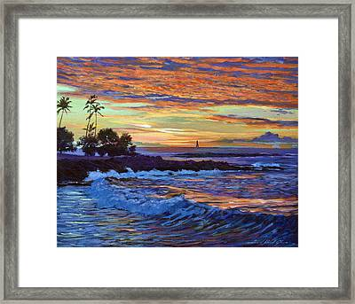 Evening Sail Hawaii Framed Print by David Lloyd Glover