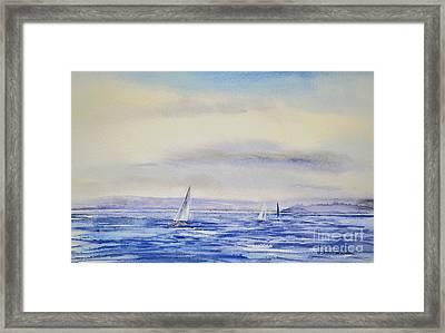 Evening Sail On Little Narragansett Bay Framed Print by Joan Hartenstein