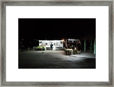Evening Sales Framed Print
