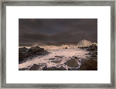 Evening Seascape  Framed Print