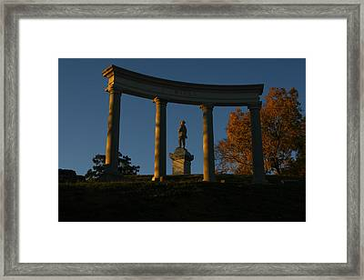 Evening Sentry Framed Print