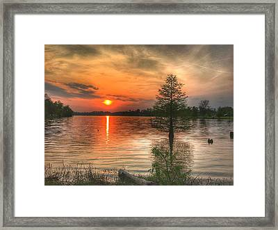 Evening Serenity  Framed Print