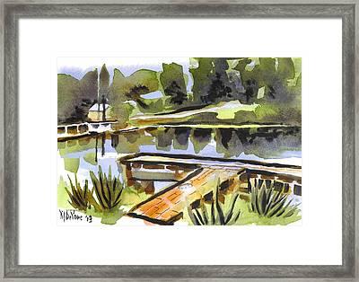 Evening Shadows At Shepherd Mountain Lake Framed Print