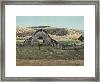 Evening Shadows In Boxley Valley Framed Print by Mary Ann King