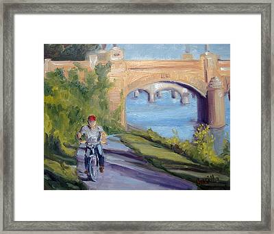 Evening Shadows Framed Print by Kathy Busillo