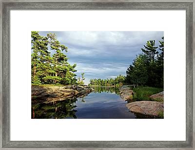 Evening Silence Franklin Island Framed Print