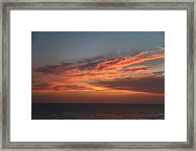 Evening Skies Over The Gulf Framed Print by Theresa Campbell