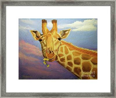 Evening Snack Framed Print by Joan Swanson