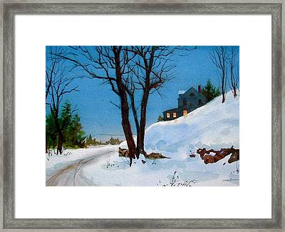 Evening Snow Framed Print by Faye Ziegler