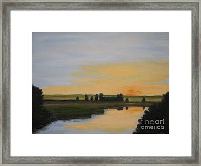 Evening Solitude Framed Print