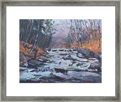 Evening Spillway Framed Print by Alicia Drakiotes