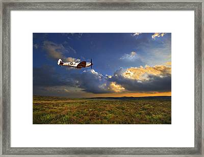 Framed Print featuring the photograph Evening Spitfire by Meirion Matthias