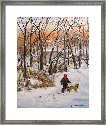 Evening Stroll Framed Print by Aurelia Nieves-Callwood