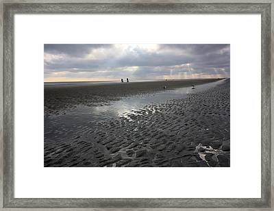 Evening Stroll Framed Print by Mary Haber