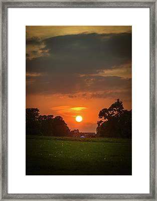 Evening Sun Over Picnic Framed Print