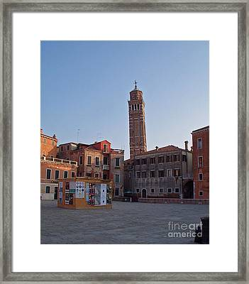 Evening Sun. Venice. Framed Print
