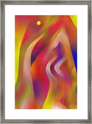 Evening Sunset Framed Print by Peter Shor