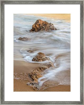 Evening Surf Framed Print by Joseph Smith