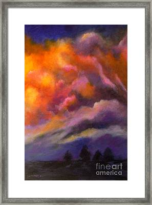 Framed Print featuring the painting Evening Symphony by Alison Caltrider