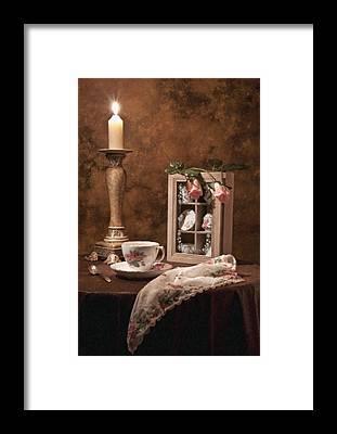 Candle Lit Framed Prints