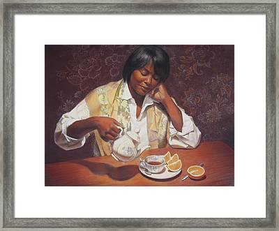 Evening Tea Framed Print