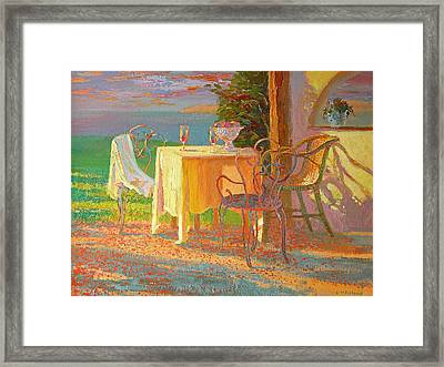 Evening Terrace Framed Print
