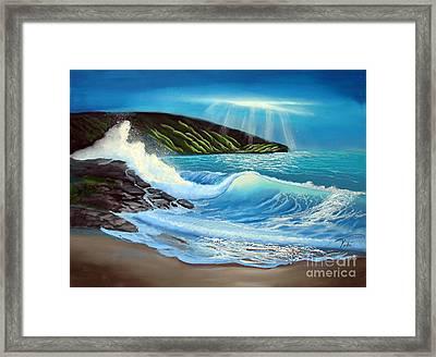 Evening Tide Framed Print by Tobi Czumak
