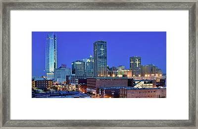 Evening Time In Okc Framed Print by Frozen in Time Fine Art Photography